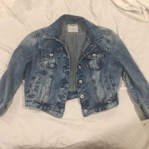 Acid Washed Jean Jacket Sz M